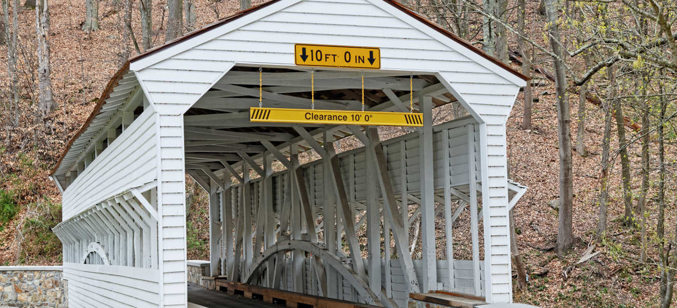 Covered Bridge. Valley Forge, PA