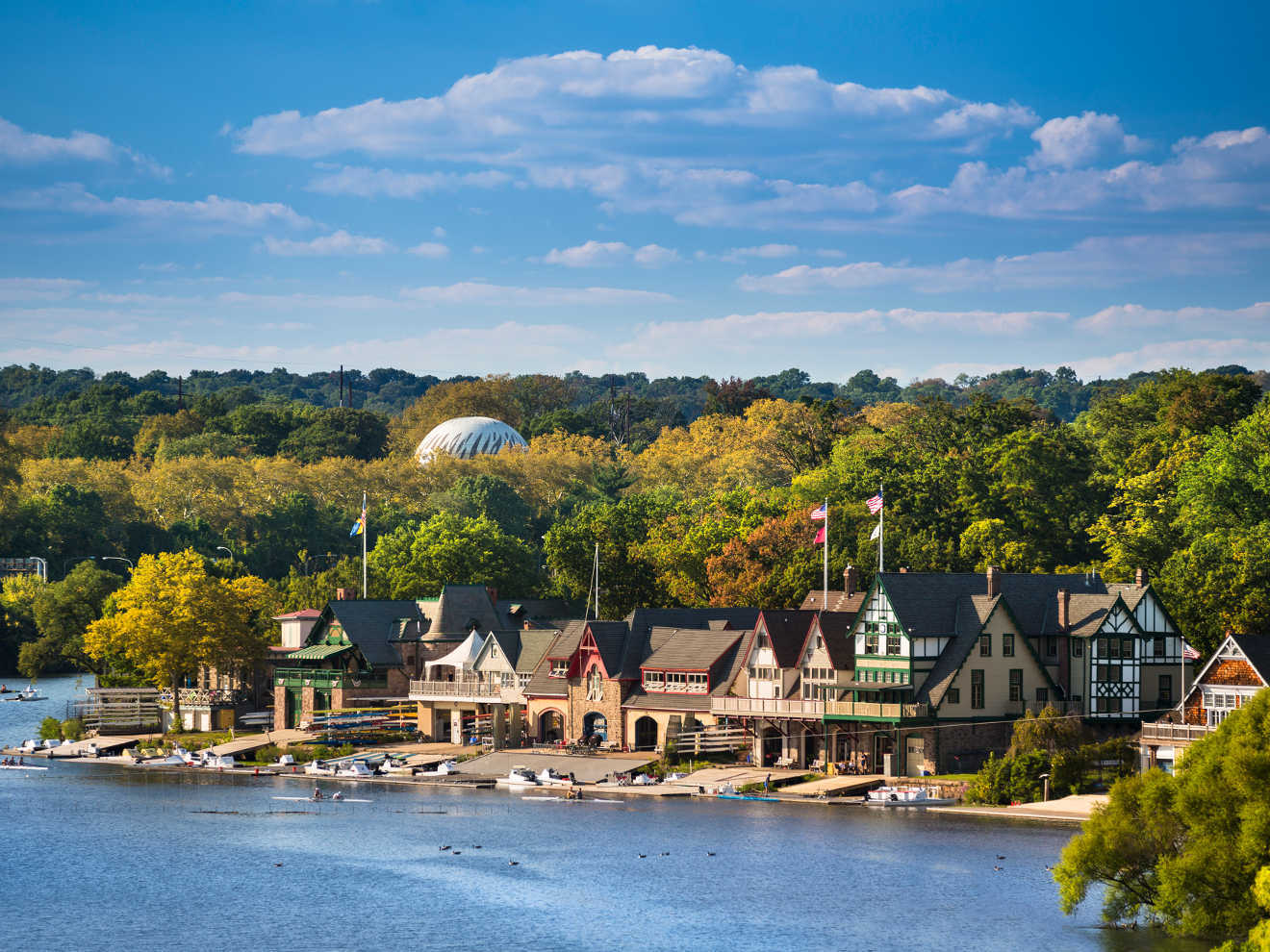 19th-century boat houses line the Schuylkill River - wealth and tax advisor